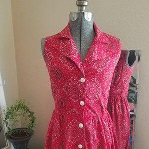 Lynda Ann CA Vintage Bandana print dress XS $39